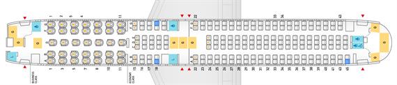 全日空767-300型機シートマップ