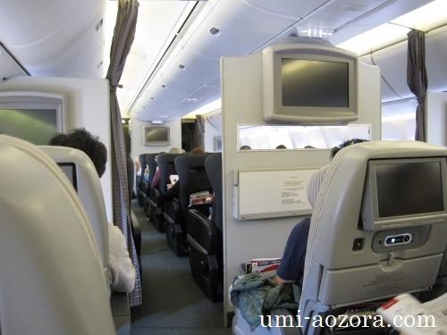 JAL098機内の様子