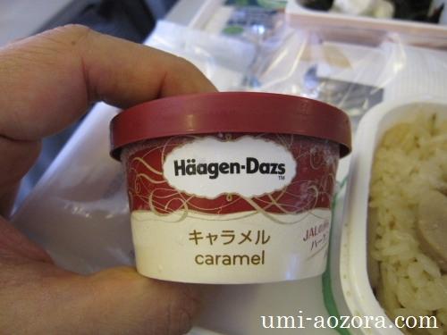 JAL097便のアイスクリーム