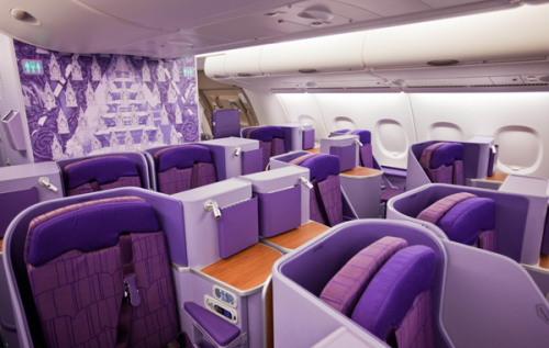 タイ国際航空A380型機ロイヤルシルククラス02