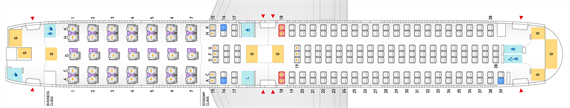 ANA_767-300_202席仕様機のシートマップ