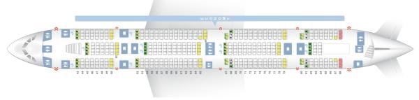 エミレーツ航空のA380-800型機シートマップ1