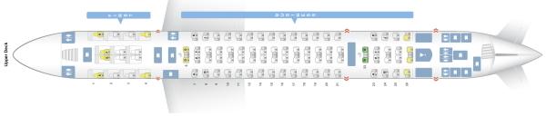 エミレーツ航空のA380-800型機シートマップ2