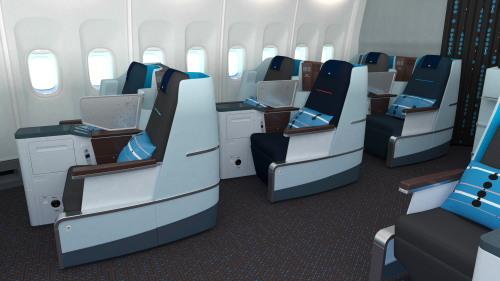 KLM_777-200_ビジネスクラス